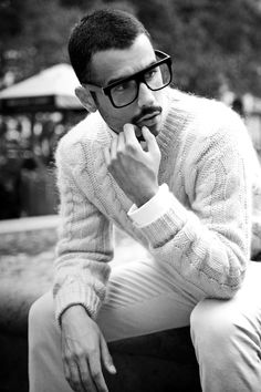 Tom Ford, by Bashti Pollin. Great specs and a great stache