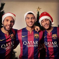 Neymar, Rafinha, Jordi Alba ( They better be under my Christmas tree this year)