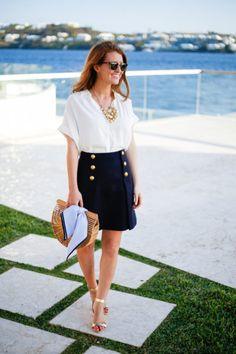 J.Crew sailor skirt.