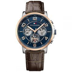 Shop for Tommy Hilfiger Keagan Multifunction Leather Chronograph Mens Watch Get free delivery On EVERYTHING* Overstock - Your Online Watches Store! Sport Watches, Cool Watches, Watches For Men, Brown Leather Strap Watch, Black Leather, Fashion Days, Mens Fashion, Tommy Hilfiger Watches, Best Watch Brands