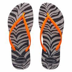 2c3704d27d6c10 Havaianas Slim Animals Fluo Preto Zebra Womens Flip Flops