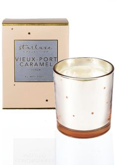 Mrs Darcy Starluxe Vieux Port Caramel Candle Scented Candles, Candle Jars, Candles Online, Brand Names, Caramel, Sweet Tooth, Sticky Toffee, Candy, Fudge