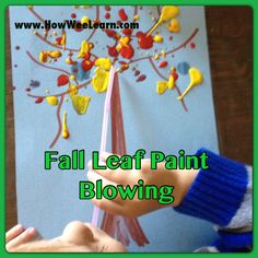 Crafts For Kids: Paint Blowing