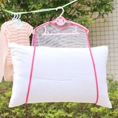 2018 Balcony windproof frame fixed pillow Multifunctional pillow toys drying rack drying racks hanging racks Net Home Container Laundry Hanger, Laundry Storage, Sewing Hacks, Sewing Crafts, Sewing Projects, Sewing Tips, Storage Hacks, Bag Storage, Storage Boxes
