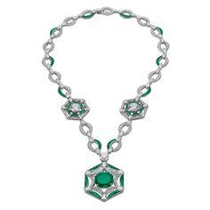 Bulgari Festa Royal Ballroom emerald high jewellery necklace