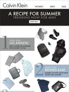 Trend Alert For Men - Get A Jump On Summer Looks - Calvin Klein