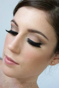 Kim Kardashian Wedding make up - think the false eyelashes may be too much on me but love the contoured eye make up and pink lips