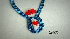 Crochet Jewelry Set Crocheted Necklace with Natural by MileTa, $15.00