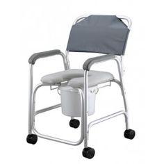 Silla de Baño con Asiento Acolchado #baño #wc #adaptado #discapacitado #minusvalido #disabled #bath #bathroom #toilet #shower #higiene #inodoro #wheels