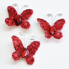 20*15mm Glitter Butterflies for R20/50 butterflies, we have it in various colour options as well | Paradise Creative Crafts cc