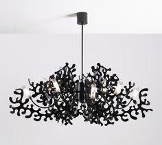 lampadario moderno candelabro nero : Lampadario Nero su Pinterest Lampadario Blu, Moderni Lampadari Di ...