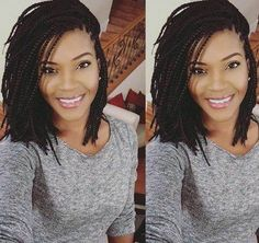 medium length thin box braids # short Braids twist 60 Easy and Showy Protective Hairstyles - Hairstyles Bob Braids, Blonde Box Braids, Braids For Black Hair, Twist Braids, Fishtail Plaits, Short Box Braids Bob, Bob Box Braids Styles, Braids Easy, Small Braids