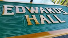 Carved cedar sign for  nautical  new England camp. Premium cedar with gloss marine varnish. Www.adirondackjims.com