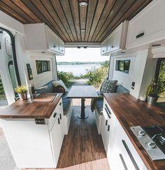Van Conversion Interior, Camper Van Conversion Diy, Van Interior, Camper Interior Design, Interior Decorating, Decorating Ideas, Decor Ideas, Van Living, Tiny House Living