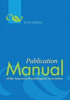#newbooks : Publication manual of the American Psychological Association (6th edition) - BF76.7 PUB