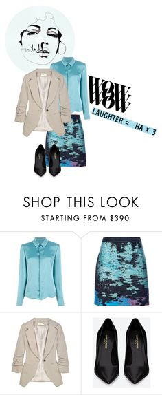 """Untitled #3639"" by dream-flying ❤ liked on Polyvore featuring Behance, A.F. Vandevorst, Proenza Schouler, Elizabeth and James and Yves Saint Laurent"