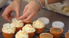 Receta de cupcakes de naranja con almendras