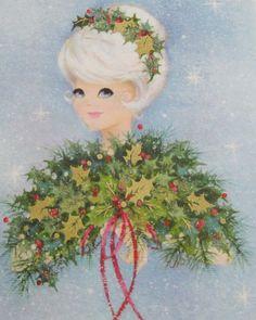 Christmas Girls, Christmas Print, Christmas Gift Tags, Retro Christmas, Christmas Wrapping, Christmas Greetings, Christmas Card Pictures, Vintage Christmas Images, Vintage Holiday