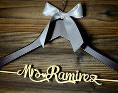 Personalized Rustic Wedding Dress Hanger New-tech by bridenew