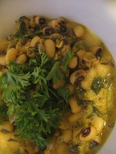 Black-Eyed Peas in a Yogurt Curry | Lisa's Kitchen | Vegetarian Recipes | Cooking Hints | Food & Nutrition Articles