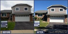 Before & After Soffit & Fascia Replacement by Opal Enterprises