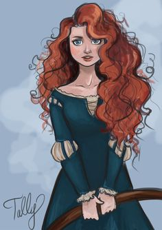 This Disney fanart of Merida is just so pretty! She looks like an older Merida Disney Pixar, Disney And Dreamworks, Disney Animation, Disney Movies, Disney Characters, Punk Disney, Disney Kunst, Arte Disney, Disney Fan Art