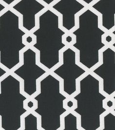 Keepsake Calico Fabric Quatrefoil Rectangle Black