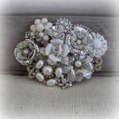 beltbuckle made out of vintage jewlery