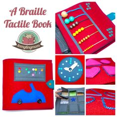 Braille Touch Feel Quiet book Tactile Book sewing