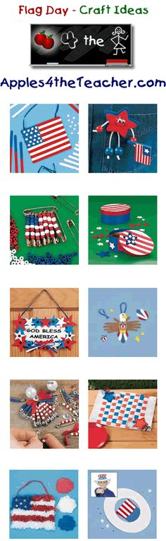 Fun Flag Day crafts for kids - Flag Day craft ideas for children.  www.apples4thetea...
