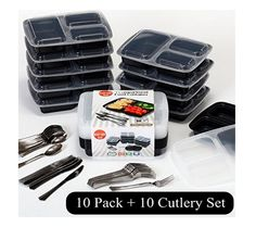 Bento Lunch Boxes With 10 Bonus Sets