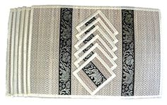 Thai Silk Reed Placemat  Coaster 6 Places Ivory -- More info could be found at the image url.