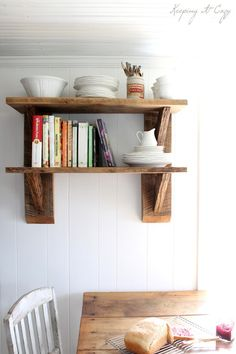 Keeping It Cozy: Reclaimed Wood Kitchen Shelves | Kitchen ...
