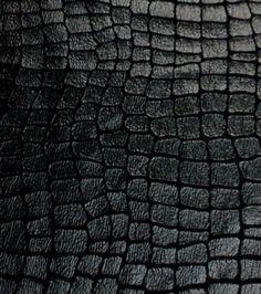 Costume Suedecloth-Croco Foil Black Aloba Polyester Fabric