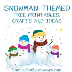 Snowman Themed Printables, Crafts and Ideas