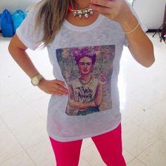 Camiseta Frida Kahlo Desenho