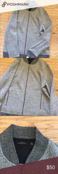NWT Marc Anthony Gray Zip Jacket L Excellent brand new men's gray jacket coat  Size large marc anthony Jackets & Coats