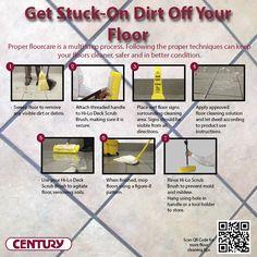 Get tough dirt off your floor