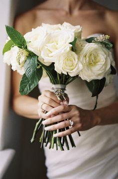 White rose bouquet: http://www.stylemepretty.com/2013/01/01/los-angeles-greek-wedding-from-braedon-photography/   Photography: Braedon - http://braedonphotography.com/