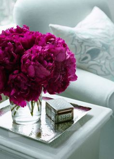 BRAND SYMBOLS - Very Important Magenta Peonies represent emotional harmony and luck in relationships