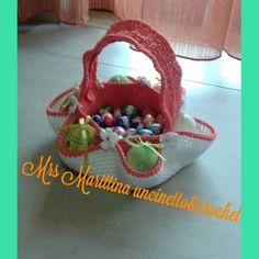 Cestino porta uova uncinetto - basket eggs crochet