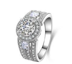 Stone: SONA DIAMOND(Top imitation diamond)TotalCarat Weight : 1ctMetal: Sterling silverMetal Purity: 92.5% sterling silver 18K white gold plated