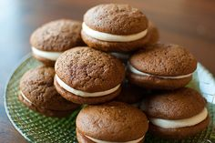 Gingerbread Whoopie Pies with Lemon Cream Cheese Frosting (must try)