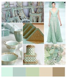 reaaaaally love this color pallette     Google Image Result for http://bonvivantbride.com/wp-content/uploads/2012/11/Green_and_Gold.jpg