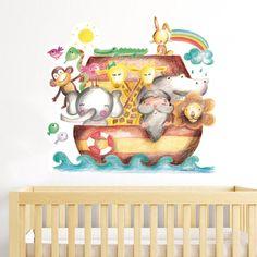 Amazoncom Sunny Decals Noahs Ark Fabric Wall Decal Noahs - Wall decals noah's ark