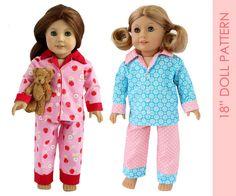 Doll PAJAMA pattern American girl doll by MyChildhoodTreasures