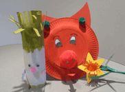 Dragon, leek & daffodil crafts