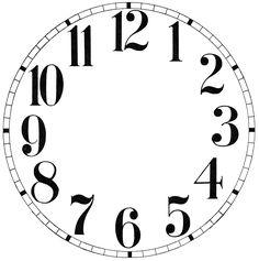 Downloadable Clock Faces Printables Clock Face