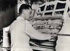 Reginald Dixon playing the mighty Wurlitzer in the Tower Ballroom Blackpool, Lancashire
