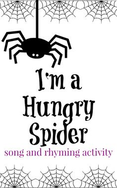 A fun spider preschool song to work on rhyming words.